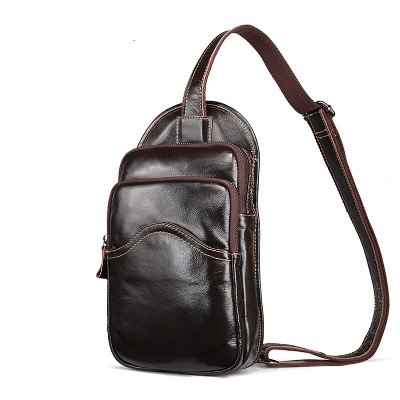The 2019 new arrival men's fashion leisure package chest pack men genuine leather Crossbody Bag cow Leather waist packs
