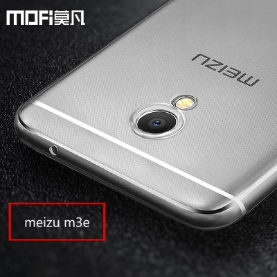meizu m3e case meilan e case tpu soft cover m3e transparent back cover mofi original m3e silicon ultra clear Anti-knock 5.5 inch