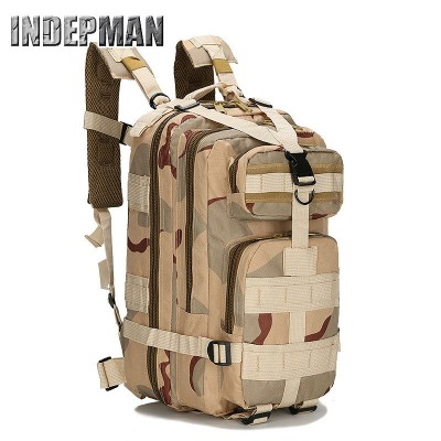 Hot Sale Travel Bag Assault Military 3P Backpack Molle Camouflage Waterproof Nylon Rucksack for Men Army Mochila Solid Schoolbag
