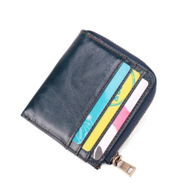 Small Genuine Leather Slim Wallets Mini Wallets Thin Rfid Card Holder Women Wallets Money Bag Male Fashion Short Purse