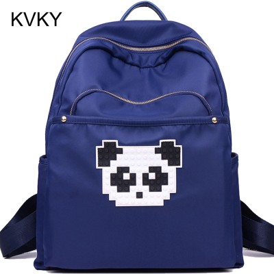 Women Oxford Backpack Cute Cartoon Panda School Bags For Teenagers Girls Kawaii Youth Backpacks Rugzak Mochilas Femininas Hot