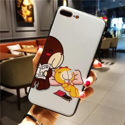 Cut Cartoon Phone Case For iphone X 6 6s 6plus 7 7plus 8 8plus Back Cover Cases Bear Cool Designer Iphone Phone Cases 01