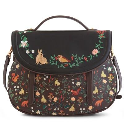 2019 Hot Fashion Sale Saddle Floral Flap Cover Bags Leather PU Embroidery Women's Handbags Messenger Bags Totes Bolsa Feminina