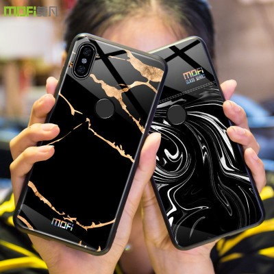 Mofi for Xiaomi Mi A2 Case Cover Xiaomi Mi 6X Case Back Cover Hard Glass