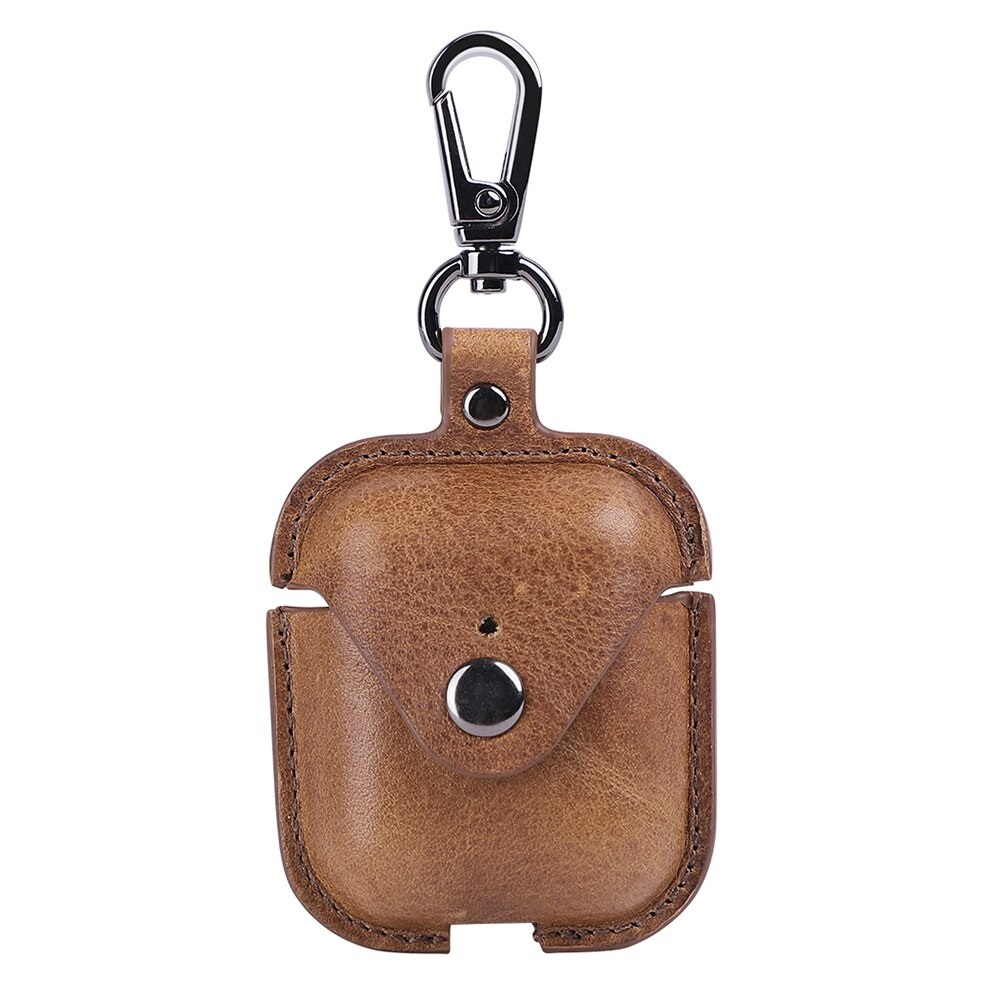 Genuine Leather Bluetooth Wireless Earphone Protective Cover Skin Accessories Apple Airpods Charging Earphone Cases Box