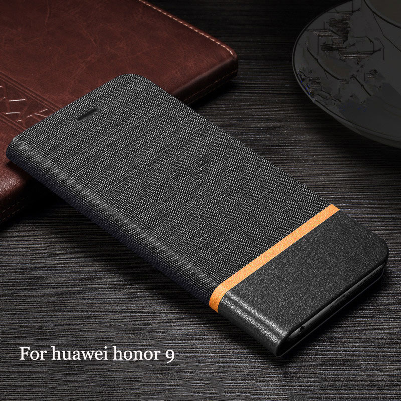 Luxury Leather Flip Cover Phone Case for Huawei Honor 9 Coque Fundas for Huawei Honor 9 Phone Protector