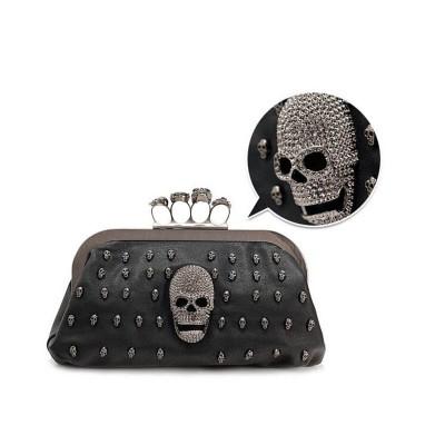 Hot Sale Ladies Clutch Bag Fashion Skull Designer Women Evening Bag Chain Handbag Wedding Dinner Party Bag Bolsos Mujer XA587C