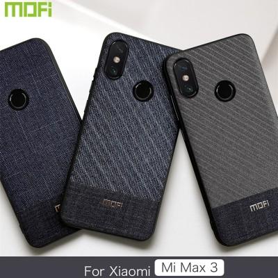 Xiaomi Mi Max 3 Case Mofi Xiaomi Mi Max 3 Case Cover Gentleman Business Fabrics Phone Case for Xiaomi