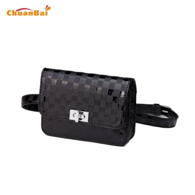 Leather Fanny Pack Waist Pack Black Women PU Leather Waist Bag Fanny Pack Casual Plaid Package Weave Bum Bag Hidden Money Belt Packs Mini Bags