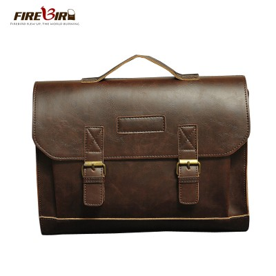 HOT!!  Brand Leather Mens Handbag Casual Business Men Leather Briefcase Bag Large Mens classic Shoulder Bags sac a main B146