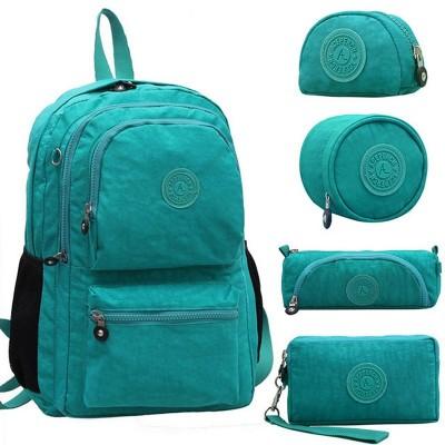 Original Brand Casual School Backpack for Teenage Girl With Monkey Keychain