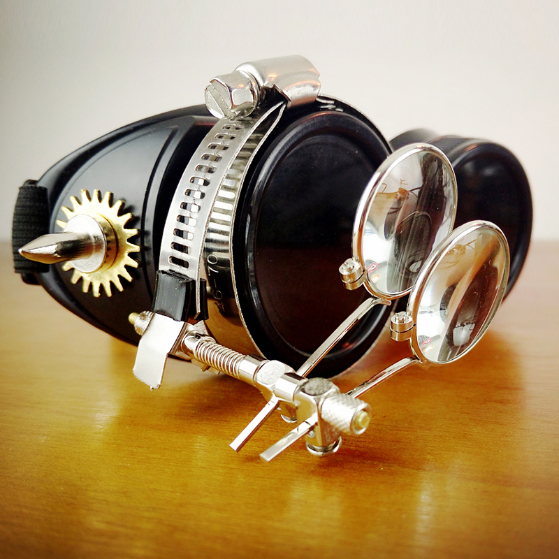 Original Black Steampunk Goggles Sunglasses Steampunk Props Cosplay Props Bar for sale Vintage