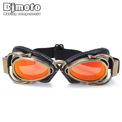 Motorcycle Helmet Steampunk Glasses Flying Goggles Vintage Pilot Biker Eyewear Goggles