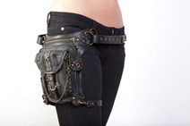 Steampunk Bag Steam Punk Retro Rock Gothic bag Shoulder Waist Bags Packs Women Men leg Thigh Holster Bag