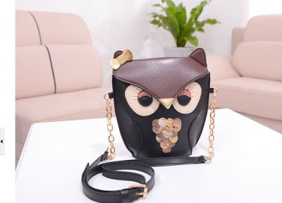 5pcs/lot women pu  leather handbag cartoon bag owl fox shoulder bags women messenger bag