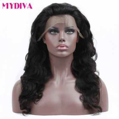 Body Wave 360 Lace Frontal Wig 180% Density Brazilian Virgin Hair Full Lace Cap Band Human Hair Wigs For Black Women Pre Plucked