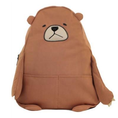 Cartoon Style Anime Backpack Cute Bear Shape Shoulders Bag for Teenage Girls School Bag