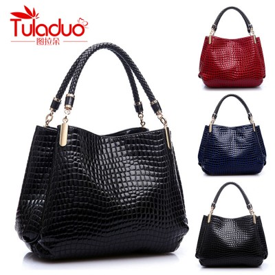 TULADUO 2019 designer Brand Leather bolsas femininas Women bag ladies Pattern Handbag Shoulder Bag Female Tote Sac Crocodile Bag