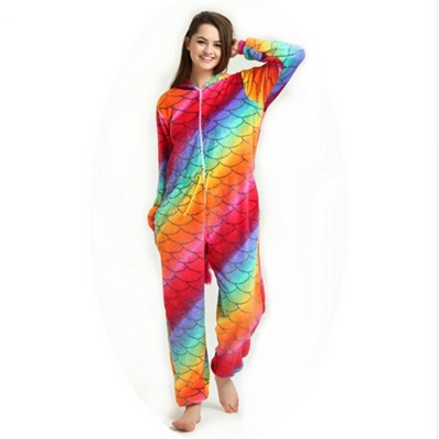 2019 New Onesie Animal Kigurumi Unicorn Onesies Adult Women Pajamas Hooded Sleepwear Flannel Panda Pikachu