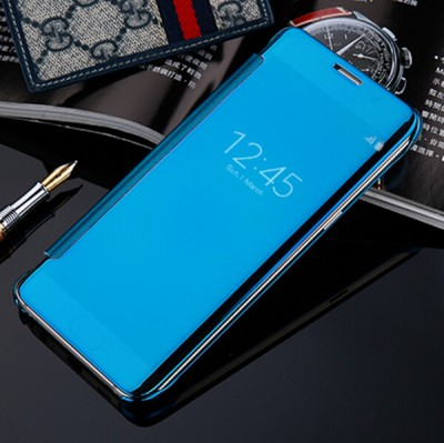 Fashion Plating Mirror Flip Phone Case for Samsung Galaxy S7 Edge Case Cover for Samsung Galaxy C5 C7 A9 S7 Case Luxury Coque