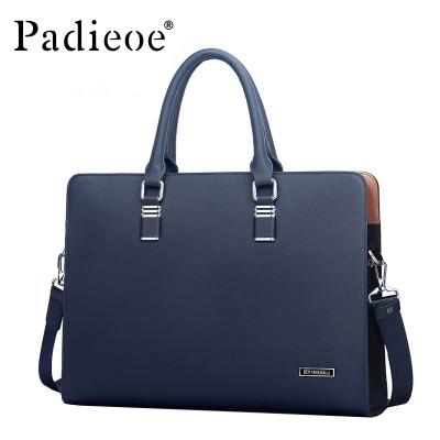 Padieoe Luxury Brand Genuine Real Cow Leather Messenger Bags Business Men Briefcases Handbags Men Totes Casual Male Bag Shoulder