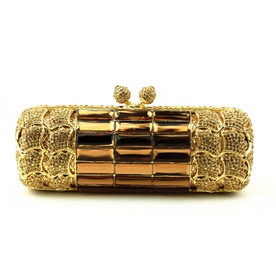 Square Crystal Evening Bags Designer Clutch Famous Brand Women Clutch 2019 Golden Evening Bags with Chain Women Shoulder Handbag