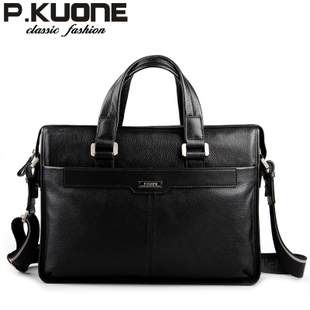 man commercial male handbag genuine leather shoulder men's casual bag leather briefcase