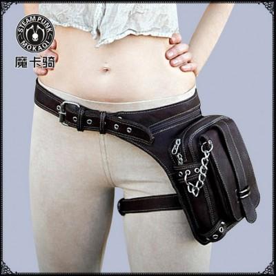 Casual Waist Bag Women PU Leather Punk Waist Bag Solid Bolsas Feminina Zipper Waist Packs Women Messenger Bags