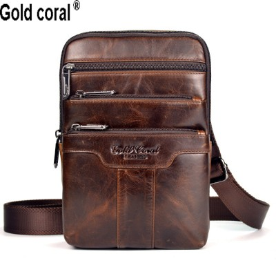 New arrival Guarantee genuine leather men messenger bags casual business small shoulder bags for men cross body travel bags
