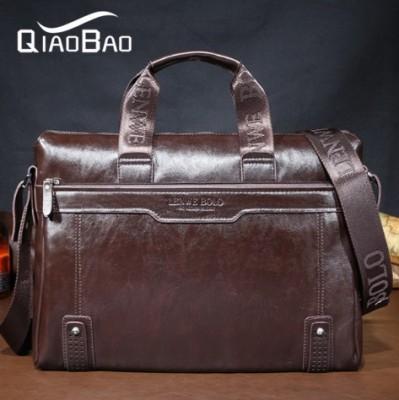 GENUINE LEATHER commercial handbag messenger bag LENWE BOLO Men's handbags  shoulder bag computer bag  business bag