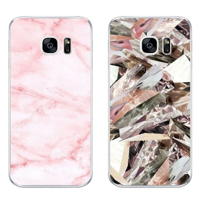 For Samsung Galaxy J3 J5 J7 2019 Phone Case S4 S6 S7 Edge Plus Shell C5 C7 Transparent Cover Soft Silicon Marble Texture Pattern