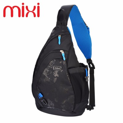Mixi 2019 Men's Fashion Bicycle Travel Backpack Knapsack Riding Backpack Casual Boys Chest Sling Bag Crossbody Shoulder Bag