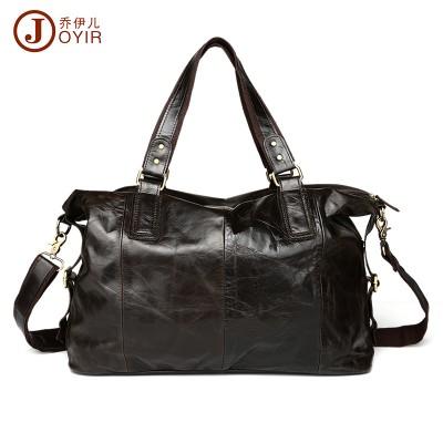 Luxury Brand Vintage Oil Wax Cowhide Travel Duffle Bag Mens Leather Handbags Casual Tote Bags Shoulder Messenger Bag Dark Green