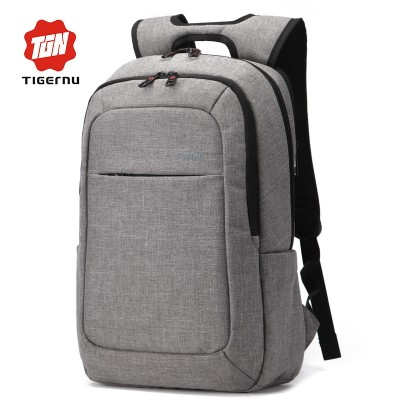 330a130430 2019 Grey Canvas Men s Backpack Bag Brand High Quality 14.1Inch Laptop  Notebook Mochila for Men