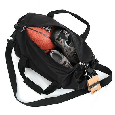Black Men's Lightweight Waterproof Folding Round Duffel Shoulder Bag Handbag Travel Bag SL