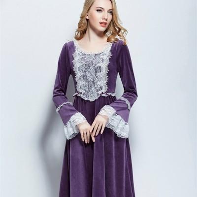 Sleepwear Nightgown Women Winter Velvet Nightdress Nightclothes