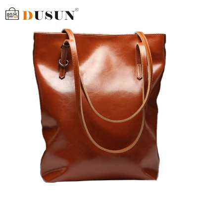 DUSUN Genuine Leather Handbags Women High quality Vintage Shoulder Bag 2019 Women's Large Tote Bags Ladies Casual Leather Bolsos