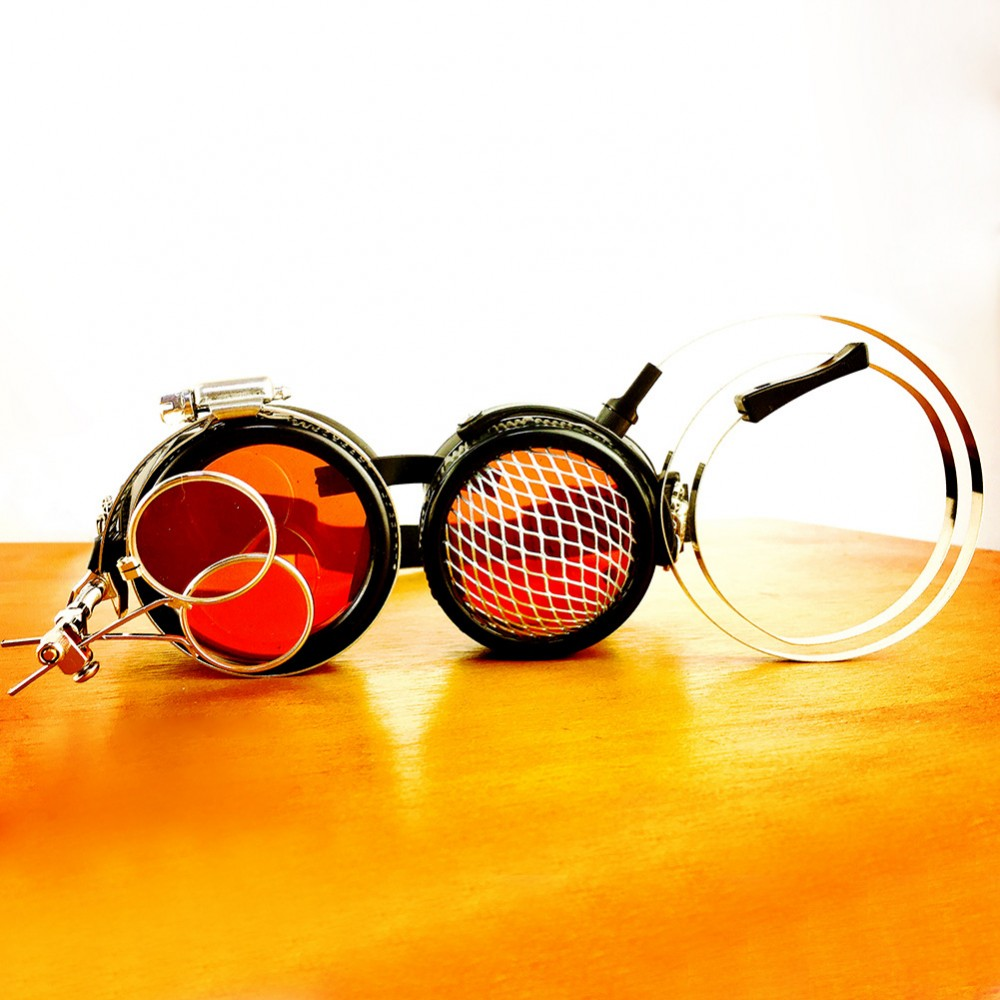 Original Orange Steampunk Goggles Sunglasses Steampunk Props Cosplay Props