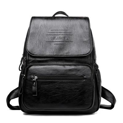 New Vintage Leather Backpacks Female Travel Shoulder Bag Women Backpack Large Capacity Rucksacks For Girls Dayback