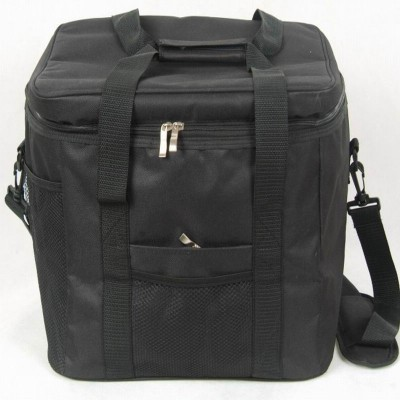 Ice bag Top Grade Waterproof Portable Fabric Thermal Cooler Bag Black Car Trunk Freezer Men Picnic Storage Bag 33L