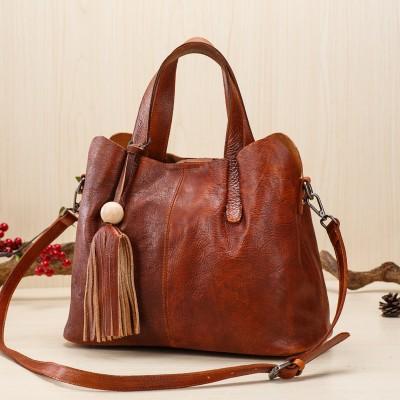Bolsas Feminina Pequenas Handbag Designer Genuine Leather Classic Bag 2019 Solid Soft Retro Large Tote Bags Handbags  Crossbody