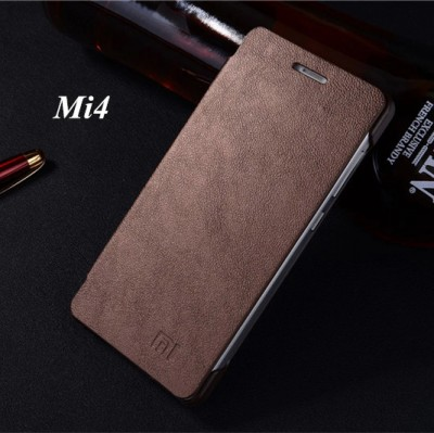 Luxury Classic Simple Style flip Phone cover leather case For Xiaomi Mi4 4 M4 Original Phone Case 11 colors