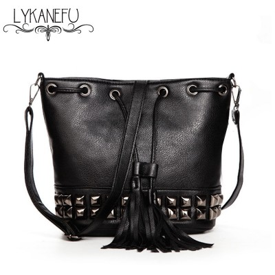 Fashion New Bucket Bag For Women Messenger Bags Small Crossbody Bags Black Tassel Bolsas Femininas Dollar Price