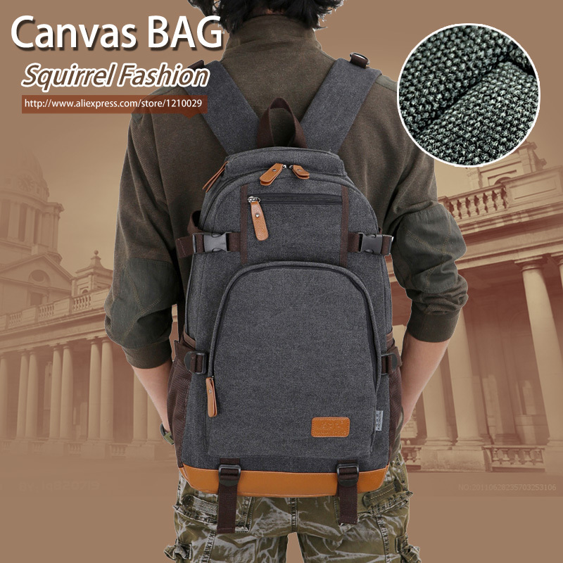 6ccd3c72f6b Squirrel fashion canvas men s daily travel duffle backpacks for laptop Korean  style vogue hipster versatile youth school bag