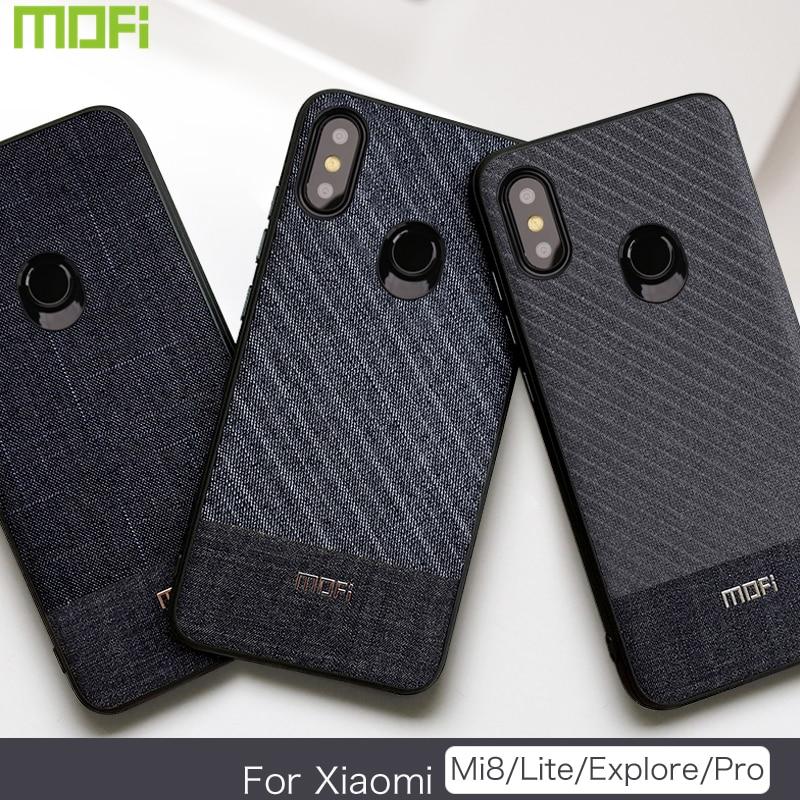 Mofi Case For Xiaomi Mi 8 Pro Case For Xiaomi Mi 8 Lite Case Mi 8 Back Cover For Xiaomi Mi 8 Explorer Case Back Cover Mi 8 Dark Business Style