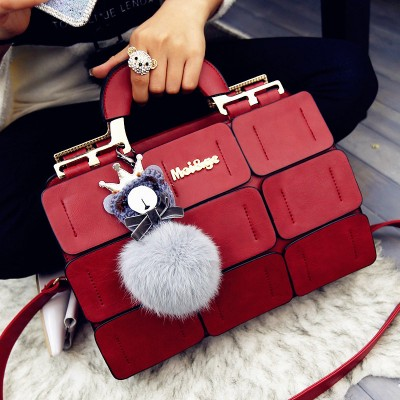 suture Boston bag inclined shoulder ladies hand bag women PU leather handbag sac 2019 woman bags handbags women famous brands