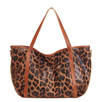 Sexy Bags Newest Luxury Brand Sexy Women Shoulder Bag Leopard Geniune Leather Handbag Fashion Design Lady Totes High Capacity Shopping Bag