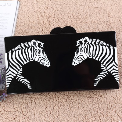 High Quality Guangzhou Name Acrylic Evening Clutch  Shape Horse China Aliexpress Factory Ladies Bradal Party Acrylic Box Clutch