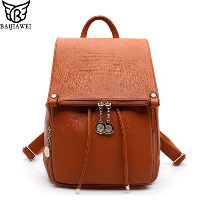2019 Fashion Design PU Leather Women Backpack Casual School Bags For Teenagers Girls High Quality Female Travel Back Packs