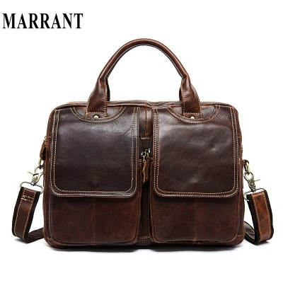 Genuine leather men bag crazy horse leather handbags shoulder bags casual man bag briefcase crossbody men messenger bags laptop